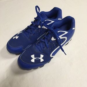 Under Armour Blue Baseball Cleats Sports Athletic